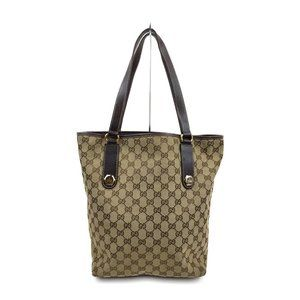 authentic Gucci Tote Bag Browns Canvas